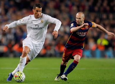 Cristiano Ronaldo and Andres Iniesta.