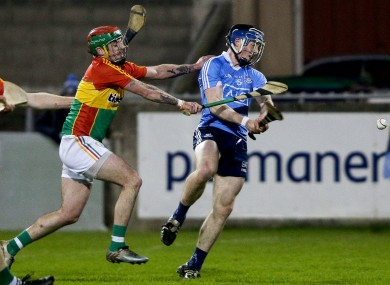 Cian O'Sullivan finds the net for Dublin against Carlow