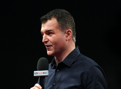 Clark presented Sky's recent coverage of the World Darts Championship.