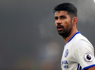 Diego Costa is rumoured to have been unsettled by an approach from China.