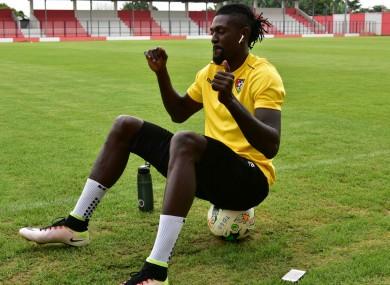 Emmanuel Adebayor during Togo training