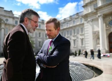 Sinn Fein President Gerry Adams and Taoiseach Enda Kenny