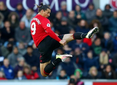 12 goals this season for Manchester United striker Zlatan Ibrahimovic.