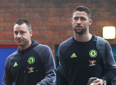 John Terry and Gary Cahill.
