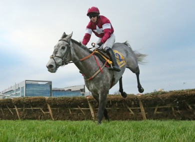 Bryan Cooper aboard Petit Mouchoir during The Ryanair Hurdle at the Leopardstown Christmas festival.