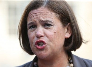 Sinn FŽéin Deputy Leader Mary Lou McDonald.