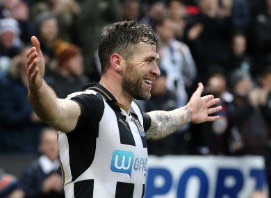 First-team chances had been limited for Murphy at Newcastle at the start of of the season.