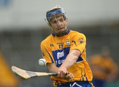Podge Collins hit the net for the Clare hurlers today.