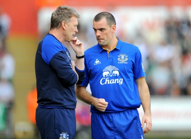 Gibson played under Moyes at Everton.