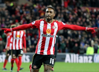 Defoe has scored 11 goals for the Black Cats this season.