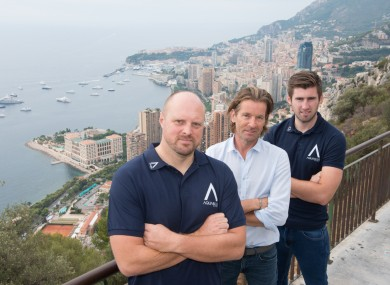 Rick Delaney (centre) is the man behind Aqua Blue Sport.