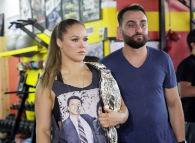 Ronda Rousey and her coach Edmond Tarverdyan.