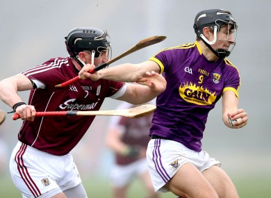 Galway's Aidan Harte tracking Jack O'Connor.
