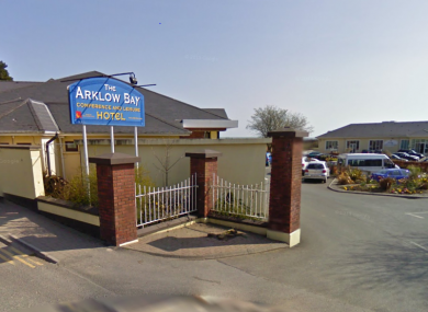 Entrance to the Arklow Bay Hotel.