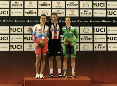 Gurley, right: track bronze for Ireland.