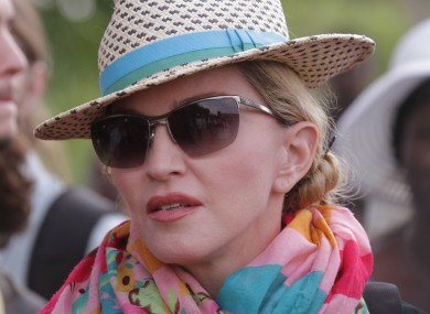 Madonna in Malawi in 2014