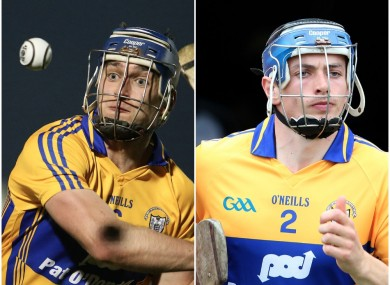 Clare hurlers Conor Ryan and David McInerney.