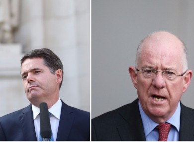 Ministers Paschal Donohoe and Charlie Flanagan