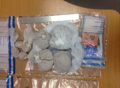 Bags of heroin and the cash seized by gardaí