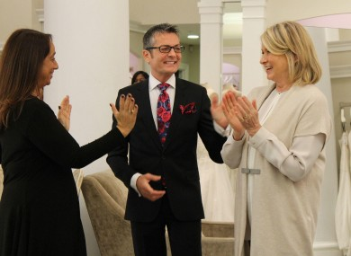 Randy Fenoli and Martha Stewart on TLC's popular show Say Yes to the Dress