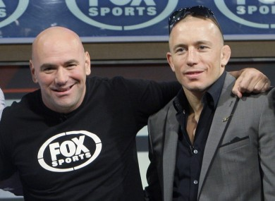 UFC president Dana White and former welterweight champion Georges St-Pierre.