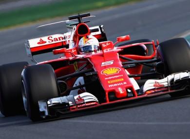 Ferrari's Sebastian Vettel.