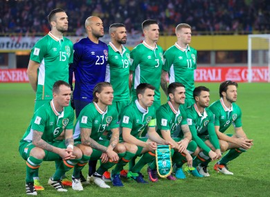 The Ireland team (file pic).
