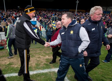 Brian Cody and Davy Fitzgerald will meet on the sideline this weekend