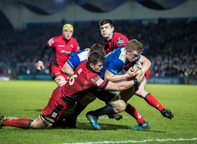 Dan Leavy scores a try for Leinster against Edinburgh in the Guinness Pro12 two weeks ago.