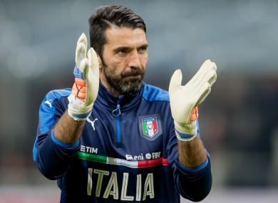 Gianluigi Buffon will earn his 168th international cap tomorrow night.