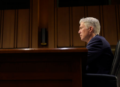Supreme Court Justice nominee Neil Gorsuch testifies on Capitol Hill in Washington.