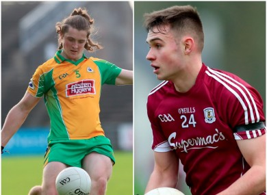 Kieran Molloy and Cillian McDaid will be part of the Galway side tomorrow.