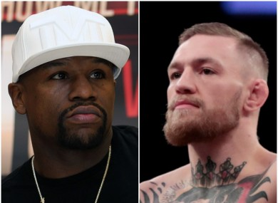 Floyd Mayweather and Conor McGregor.