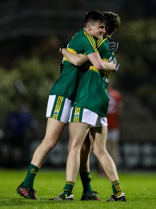 Champions: Sean O'Shea celebrates with Conor Geaney at the final whistle.