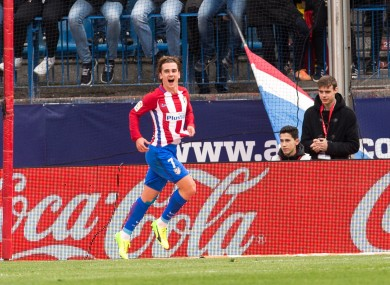 Griezmann celebrating (file photo).
