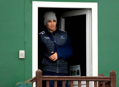 Dillane watches on during Connacht squad training yesterday.