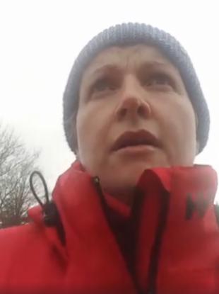 Twomey during her Cork-Dublin walk.