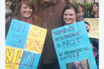 A woman carrying a Father Ted sign at the maternity hospital protest only went and bumped into Graham Linehan
