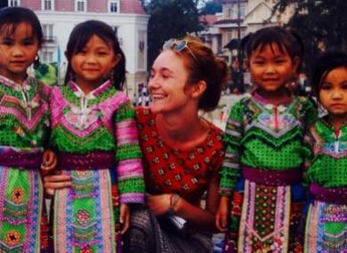 Danielle McLaughlin in Goa last month.