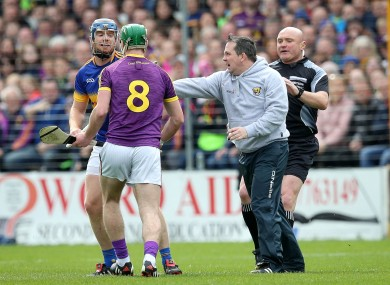 Sunday's flashpoint incident as Davy Fitzgerald enters the Nowlan Park pitch.