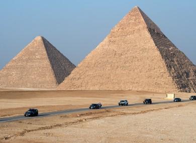 File photo of the Pyramids of Giza.