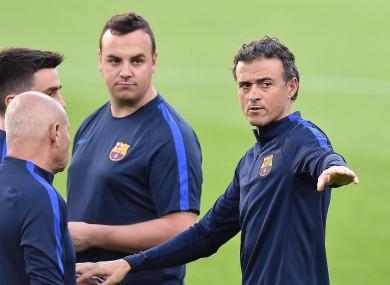 Barcelona coach Luis Enrique.