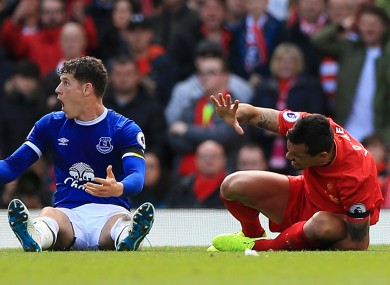 Nasty: Barkley has been criticised for Lovren tackle.