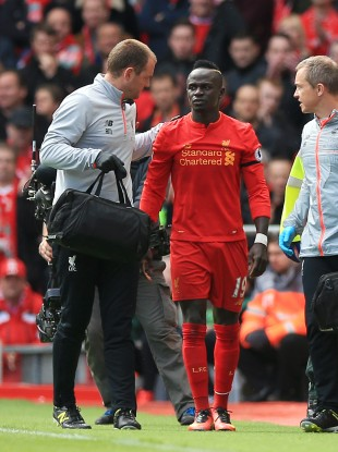 Sadio Mane picked up the injury in Liverpool's recent win over Everton.