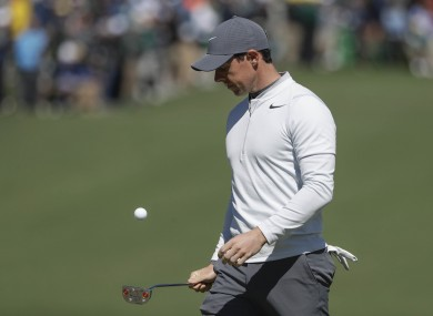 McIlroy is in the red after three birdies on the front nine.