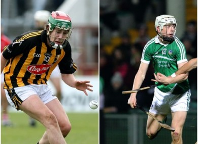 Kilkenny's John Mulhall and Limerick's David Reidy.
