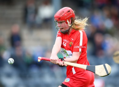 Niamh McCarthy in action for Cork in the League semi-final.