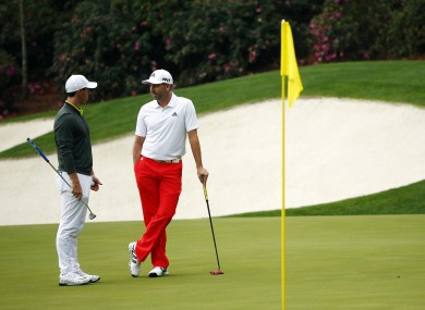 McIlroy and Garcia: Can either leave Augusta with the green jacket this week?