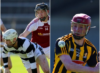 Michael Carey (left) and captain Adrian Mullen in action for Kilkenny tomorrow.