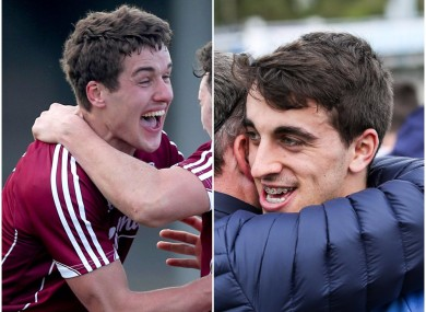 Galway's Michael Daly and Dublin's Chris Sallier celebrate last Saturday's victories.